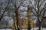 Bočný pohľad na kostol